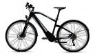 BMW Bicicleta eléctrica híbrida de aluminio para bicicleta eléctrica, color negro y plateado