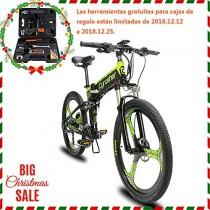 Extrbici Bicicleta de montaña MTB XF770 17 * 26″Bicicleta eléctrica Plegable Montaña