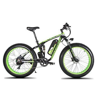Extrbici XF800 1000W 48V 13AH 26 'Suspensión completa Fat Bike Cruiser