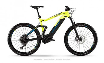 Haibike 2020 Sduro FullSeven LT 9.0 – Bicicleta eléctrica (27,5»), Color Negro, Amarillo y Azul
