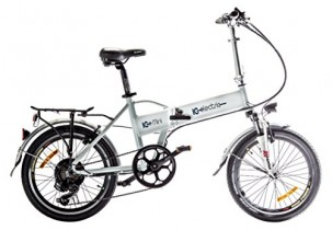 IC Electric Mini Bicicleta Plegable, Unisex Adulto, Blanco