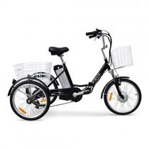 JORVIK 20 Brazalete DE Aluminio ELÉCTRICO Trike Viaje 250W 36V (Black)