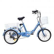 JORVIK 20 Brazalete DE Aluminio ELÉCTRICO Trike Viaje 250W 36V blue
