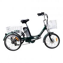 JORVIK 20 Brazalete DE Aluminio ELÉCTRICO Trike Viaje 250W 36V green