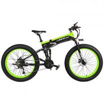 LANKELEISI T750Plus 27 velocidades 1000W Bicicleta Eléctrica Plegable Verde