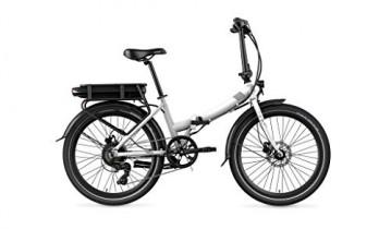 Legend eBikes Siena Smart 10,4Ah Bicicleta eléctrica Plegable,Blanco Artic, Batería 36V 10.4Ah (374.4Wh)