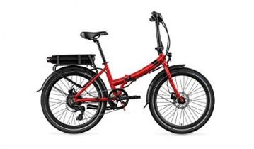 Legend eBikes Siena Smart 10,4Ah Bicicleta eléctrica Plegablem Rojo Strawberry, Batería 36V 10.4Ah (374.4Wh)