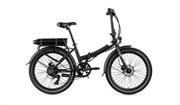 Legend eBikes Siena Smart 10,4Ah Bicicleta eléctrica Plegable, Negro Onyx, Batería 36V 10.4Ah (374.4Wh)