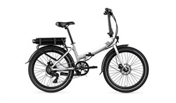 Legend eBikes Siena Smart Bicicleta eléctrica Plegable, Blanco Artic, Batería 36V 14Ah (504Wh)