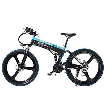 MERRYHE 27 Velocidades De Suspensión Completa E-Bike 400W Eléctrica Cruiser