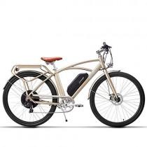 MSEBIKE Comet 700C Bicicleta Eléctrica 48 V dorada