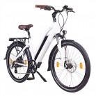 NCM Milano Bicicleta eléctrica de Trekking, 250W, Batería 48V 13Ah 624Wh blanca