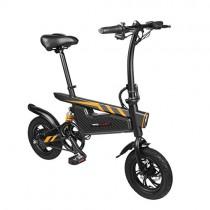 Teamyy Bicicleta Eléctrica Plegable Rueda de 15,75 Pulgadas 250W Negro