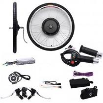 OUkANING – Kit de conversión de rueda delantera de 66 cm (26″) para bicicleta eléctrica, 36 V, 250 W