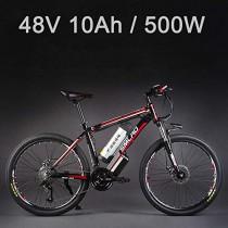 SMLRO 26″ 48V 500W Bicicleta eléctrica, Bicicleta de montaña de 27 velocidades