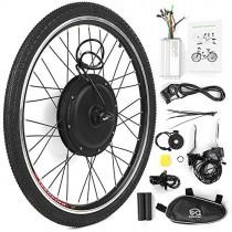 Walmeck- Kit de conversión de Bicicleta eléctrica Bicicleta Rueda Trasera Buje Motor Kit 48V 1000W
