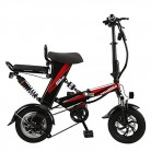 Wheel-hy Bicicleta Eléctrica Plegable, 350W, Unisex Adulto, Batería 48V 15Ah, 12″